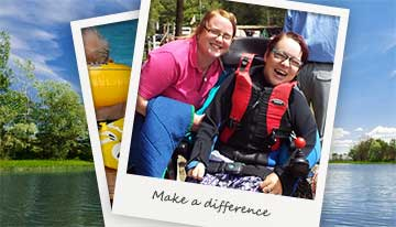 Revitalise guest and volunteer on accessible excursion