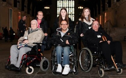 disabled guests in weelchair at Houses of Parliament