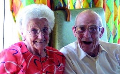 elderly couple on respite break at revitalise centre