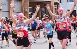 Revitalise runners Sue and Jo at 2013 London Marathon
