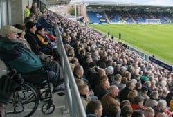 disabled guests at football game