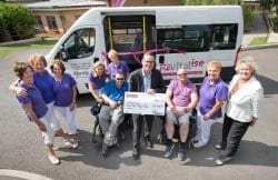Abridge ladies with Chris Simmonds in front of Revitalise minibus