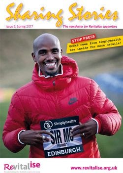Front cover of the third edition of Sharing Stories featuring Mo Farah