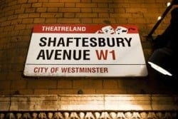 Shaftesbury Avenue sign