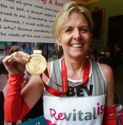 Team Revitalise participant Beverly, who took part in the 2016 London Marathon