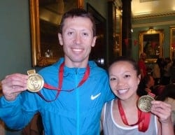 Team Revitalise participants Roman and Diane who completed London Marathon 2016