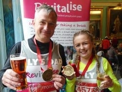 Team Revitalise participants Marc and Lily who completed London Marathon 2016