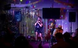 Rowetta singing at Sandpipers