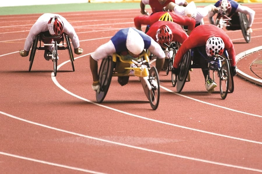 Wheelchair racing Paralympic Sporting event