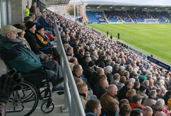 wheelchair users at football game