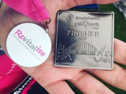 Nicole's finisher medals