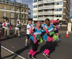 Team Revitalise runners Lemina and Sarah at Simplyhealth Great South Run