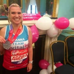 Team Revitalise runner at the Virgin Money London Marathon
