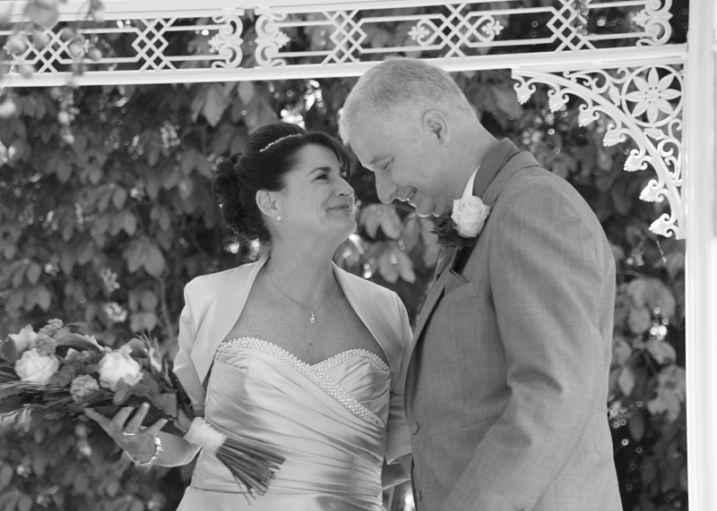 Revitalise guests Lin and Steve on their wedding day
