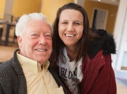 Carer and guest at Jubilee Lodge