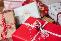 A selection of Christmas gifts