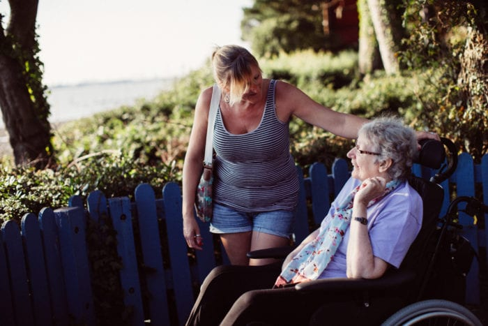 Guest and carer at Netley Waterside House